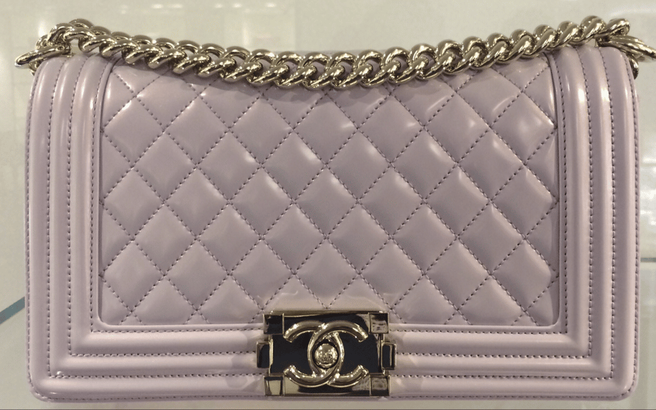 f3be7caabe54 Chanel Iridescent Calfskin Boy Bags From Spring 2016 Act 1 | Spotted ...