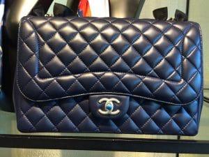 Chanel Navy Blue Mademoiselle Chic Jumbo Flap Bag