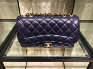 Chanel Navy Mademoiselle Chic Flap Medium Bag