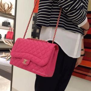 Chanel Pink Mademoiselle Chic Flap Jumbo Bag
