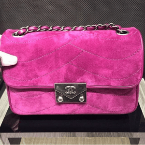 Chanel Purple Suede Pagoda Flap Small Bag