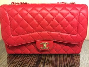 Chanel Red Mademoiselle Chic Jumbo Flap Bag
