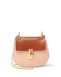 Chloe Beige/Caramel Colorblock Drew Mini Bag