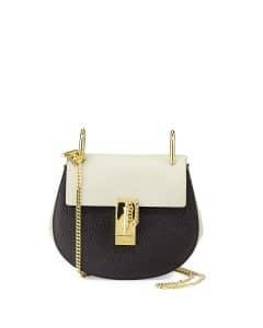 Chloe Black/Gray Drew Small Bag