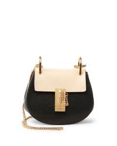 Chloe Black/Nude Colorblock Drew Mini Bag