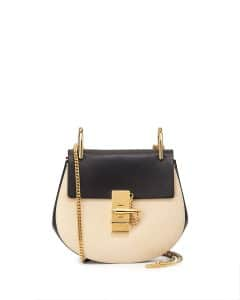 Chloe Off White/Black Drew Mini Bag