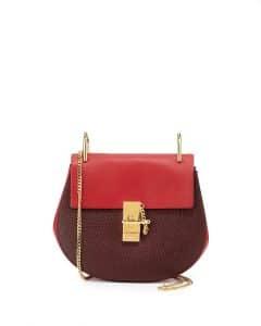 Chloe Wine/Red Drew Mini Bag