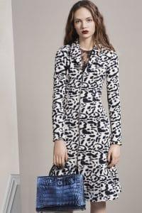 Dior Blue Crocodile Diorever Tote Bag