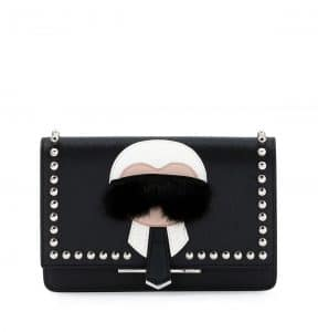 Fendi Black Karlito Wallet On Chain Bag