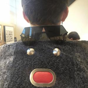 Fendi Grey Shearling Fendi Faces Jacket
