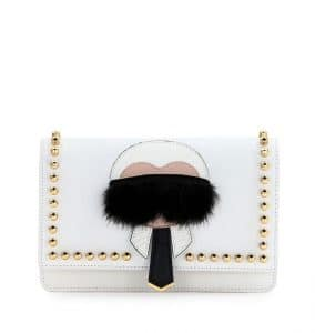 Fendi White Karlito Wallet On Chain Bag
