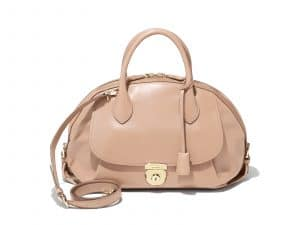 Ferragamo Beige Large Fiamma Bag