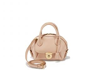 Ferragamo Beige Small Fiamma Bag