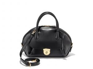 Ferragamo Black Medium Fiamma Bag