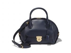Ferragamo Blue Medium Fiamma Bag