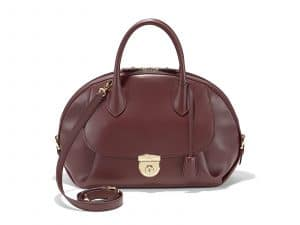 Ferragamo Burgundy Large Fiamma Bag