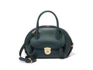 Ferragamo Green Medium Fiamma Bag