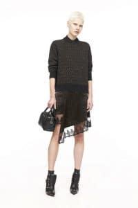 Givenchy Black Embossed Lucrezia Mini Bag - Pre-Fall 2016
