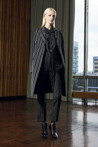 Givenchy Black Pinstripe Jumpsuit and Coat - Pre-Fall 2016
