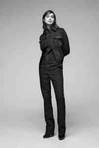 Givenchy Black Studded Denim Jacket and Jumpsuit - Pre-Fall 2016