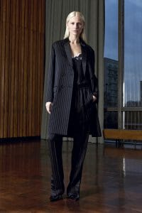Givenchy Black Thin Stripe Viscose Top and Trousers - Pre-Fall 2016