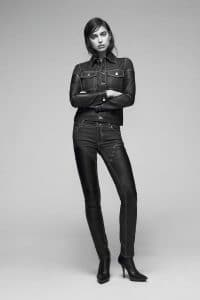 Givenchy Blue Denim Jacket and Jeans with Leather - Pre-Fall 2016