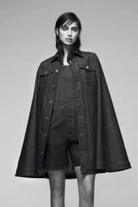 Givenchy Blue Denim Long Cape and Jumpsuit - Pre-Fall 2016