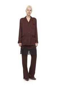 Givenchy Burgundy Stripe Top and Trousers - Pre-Fall 2016