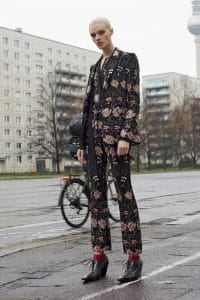 Givenchy Multicolor Vintage Flowers Embroidery Suit - Pre-Fall 2016