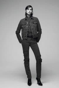 Givenchy Washed Grey Denim Jeans and Jacket - Pre-Fall 2016