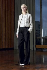 Givenchy White Matelasse Worn Leather Jacket - Pre-Fall 2016