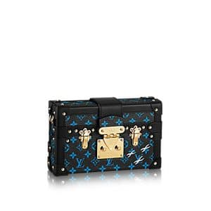 Louis Vuitton Bleu/Noir Monogram Canvas Petite Malle Bag
