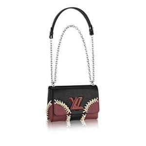 Louis Vuitton Noir Braided Corner Epi Twist MM Bag