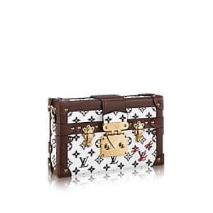 Louis Vuitton Noir/Blanc Monogram Canvas Petite Malle Bag