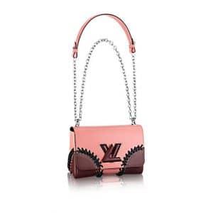Louis Vuitton Pink Braided Corner Epi Twist MM Bag