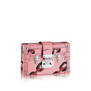 Louis Vuitton Pink Chain Flower Epi Petite Malle Bag