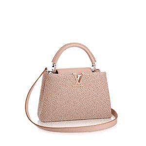Louis Vuitton Rose Petal Tweed Capucines BB Bag
