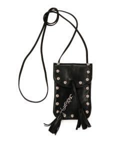 Saint Laurent Black Studded Anita Toy Flat Bag