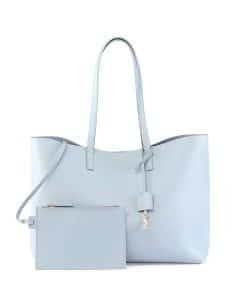 Saint Laurent Light Blue Large Shopping Tote Bag