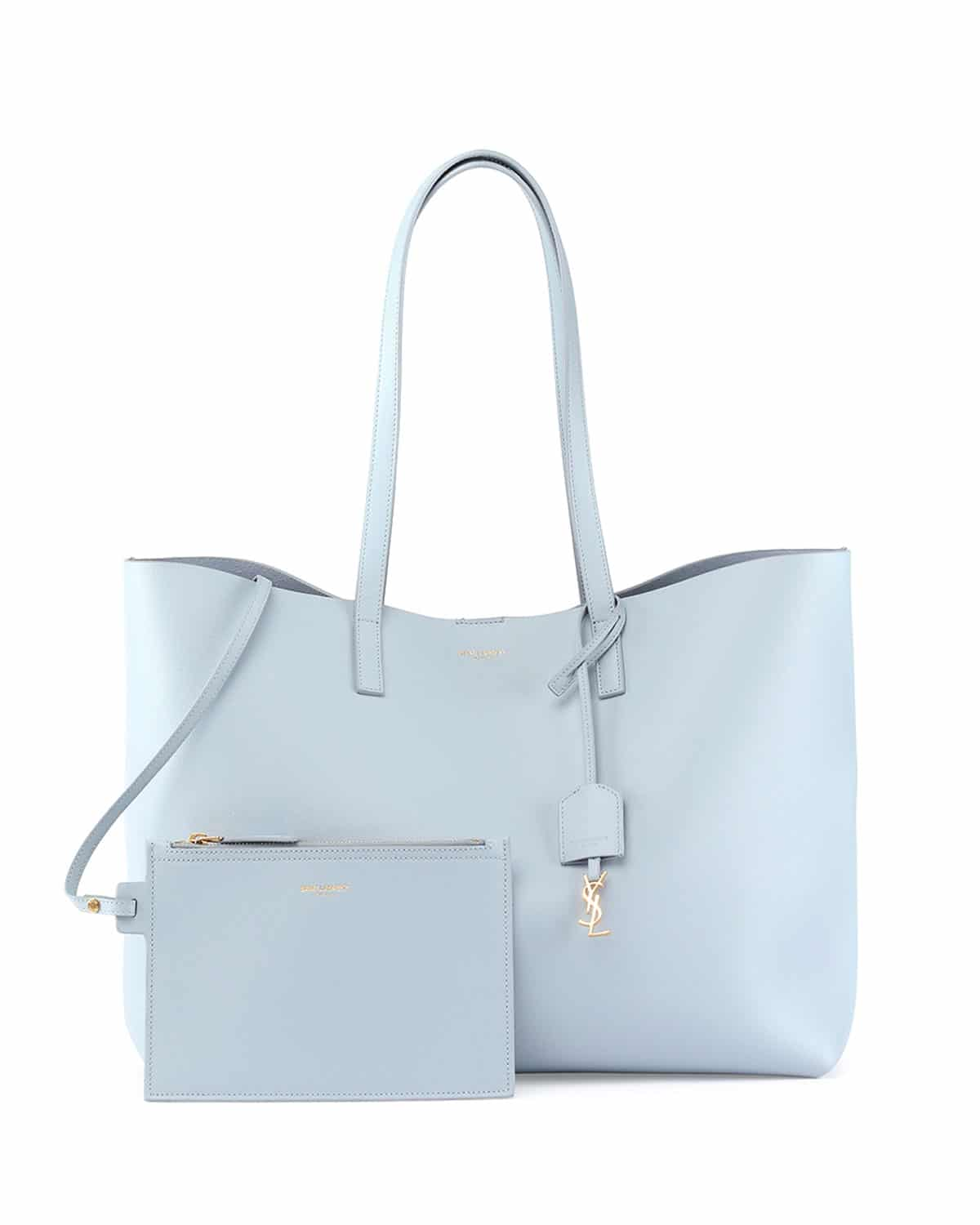 0491565cc51 large shopping saint laurent tote bag in dove white leather