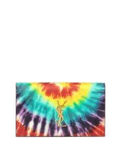 Saint Laurent Multicolor Tie-Dye Monogram Clutch Bag