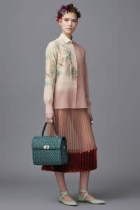 Valentino Blue Green Studded Top Handle Bag - Pre-Fall 2016