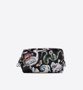 Valentino Multicolor Fantastic Animal Print Cosmetic Case