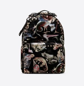 Valentino Multicolor Fantastic Animal Rockstud Medium Backpack Bag