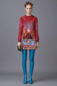 Valentino Multicolor Printed Minaudiere Bag - Pre-Fall 2016