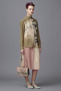 Valentino Pink Printed Lock Flap Bag - Pre-Fall 2016