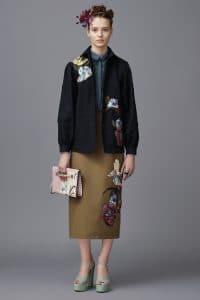Valentino Pink Printed Rockstud Clutch Bag - Pre-Fall 2016