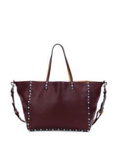 Valentino Rubin/Ochre Rockstud Reversible Tote Bag