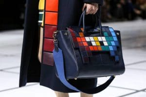 Anya Hindmarch Blue Multicolor Pixelated Tote Bag - Fall 2016