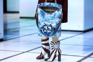 Anya Hindmarch Blue Pixelated Invaders Python Orsett Tote Bag - Fall 2016